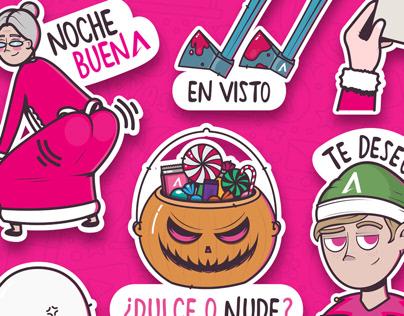 Avantel. Stickers de Whatsapp