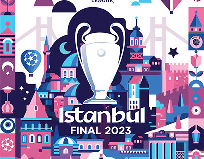 UEFA Champions League Istanbul Final 2023 Poster
