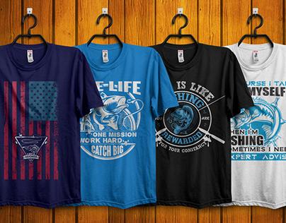 Free Fishing T-Shirt DesignDownload