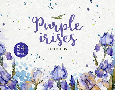 FREE DOWNLOAD WATERCOLOR IRISES
