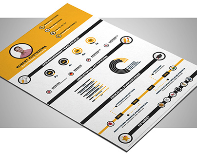 Free Infographic Illustrator Resume Template