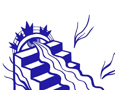 Le Squat logo & T-shirt illustration