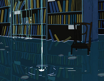 Submerged library