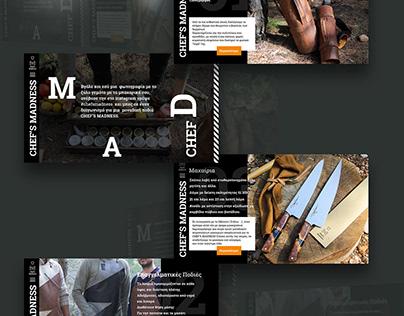 Chef's Madness Website (Concept)
