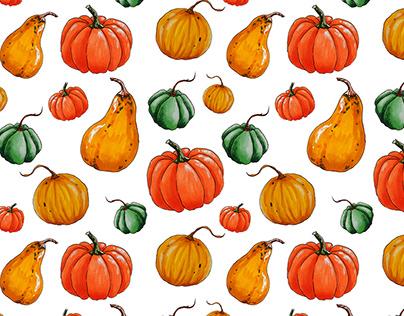 Harvest. Textile patterns