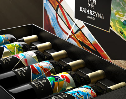 Katarzyna limited edition 2012 - label and box design.