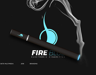 Branding - Fire Blue / Electronic Cigarettes