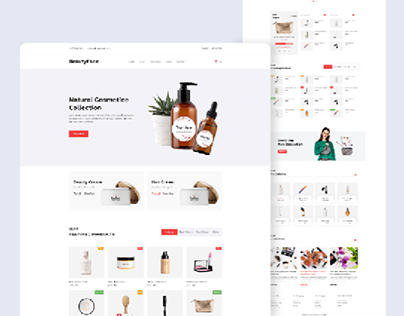 Cosmetic E-commerce Shop landing pages.