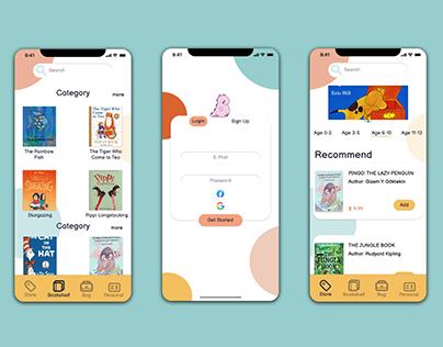 Children's Bookstore App Concept