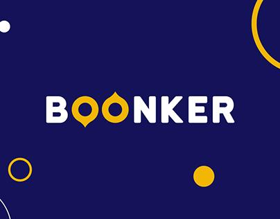 BOONKER online shipping - Logo design and branding