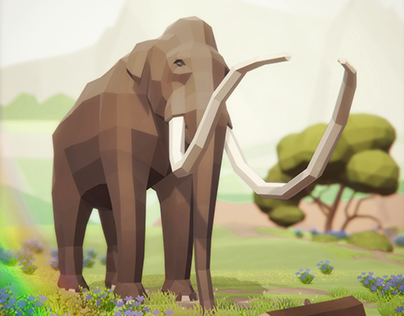 Low Poly Prehistoric Animals