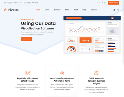 Pivotal - Data Analysis Website Template