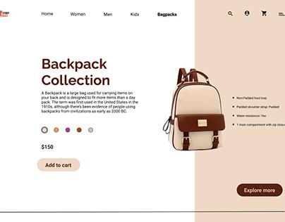 Bagpack prototype