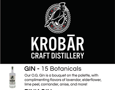 Krobar Craft Distillery Promotional Design & Video