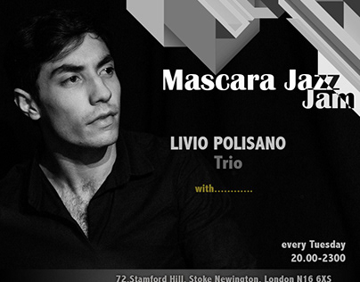 Poster and social media for Jazz concert