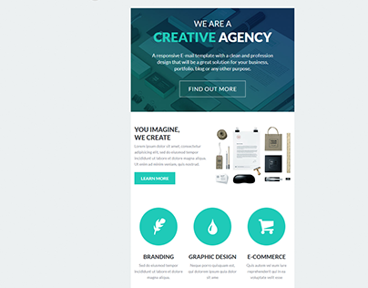 Best Responsive email template professional design.