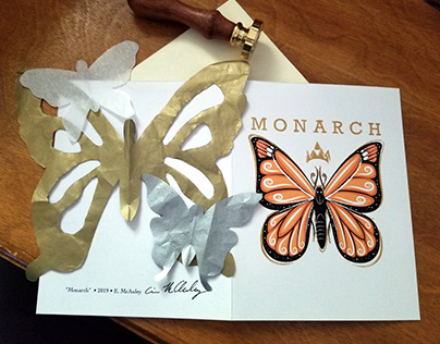 Monarch Hand-Cut Card 2019