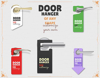 Door Hanger | Door Hanger of any shape