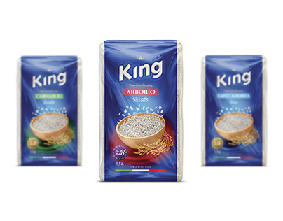 King - Albanian rice brand design