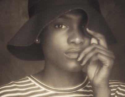 Sisters, Studio Portraits in sepia