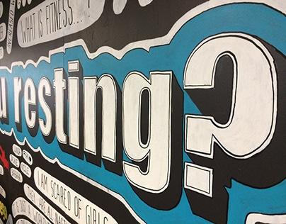 Mural at the Crossfit Brisbane gym