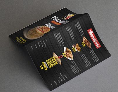 Pizzawich Menu & social media