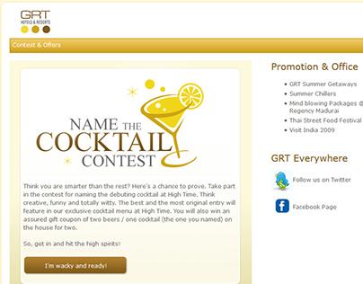 Webdesign GRT - Cocktail contest