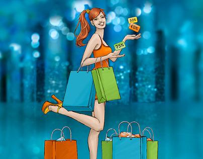 Illustration - Shopping Night