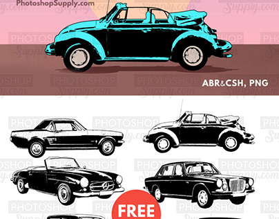 Car Shapes | Brushes, Vectors and PNG