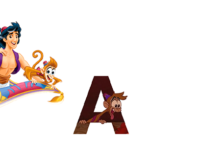 ALADDIN // Painted letters