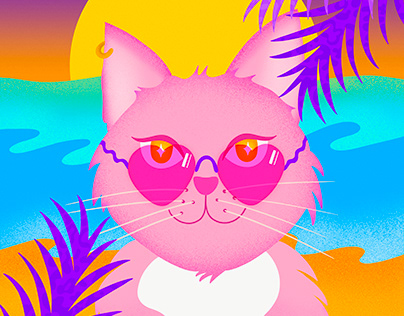 Sassy Cat on the Beach