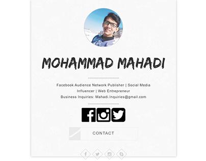 Portfolio design one page