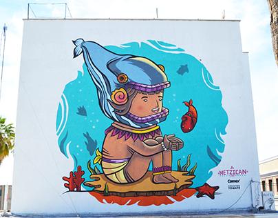 """MURAL """"Uno con el mar"""" / La Paz, BCS"""