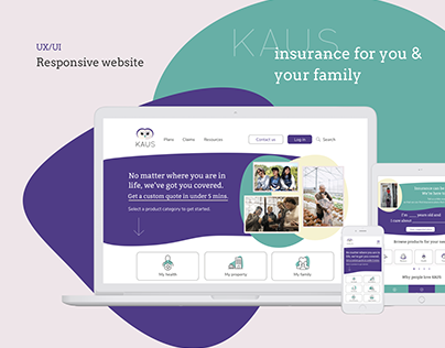 UX/UI - Responsive website for KAUS insurance