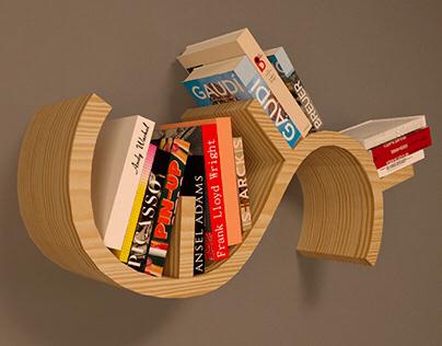 BOOKWORM SHELF - Releitura produto.