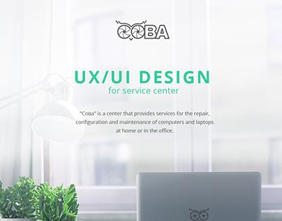 UX/UI design for service center
