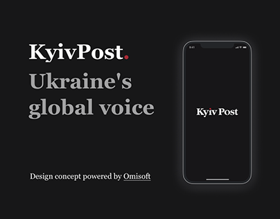 KyivPost mobile app concept