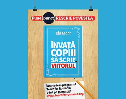 Campanie Recrutare Teach for Romania