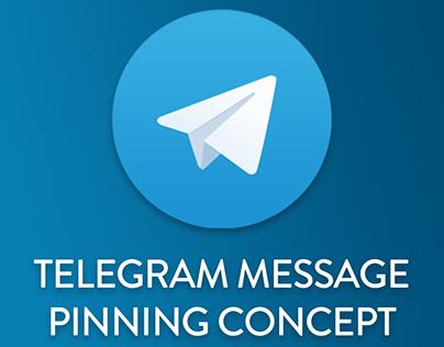 Telegram Message Pinning Concept