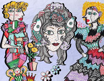 Line Art Composition Picassoish