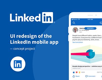 LinkedIn — UI redesign of the mobile app