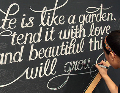 Lettering Chalk Wall Art