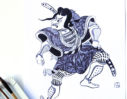Japanese ink graphic