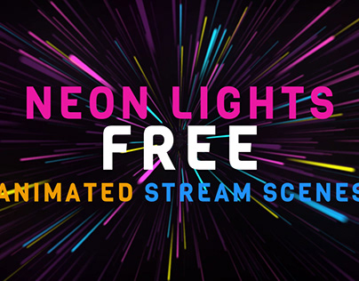 Neon lights free animated scenes