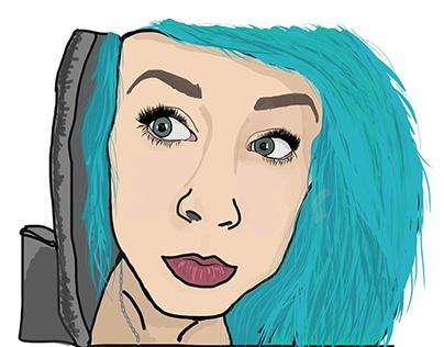Self Portrait using Adobe Illustrator Draw