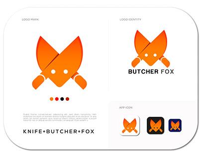 butcher fox logo design | brand identity