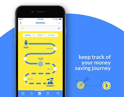 UI - finyo app - save money