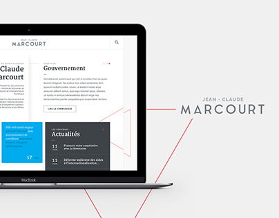 Jean-Claude Marcourt - Website design