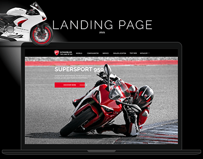 Landing Page Consept for the sale of motorcycles