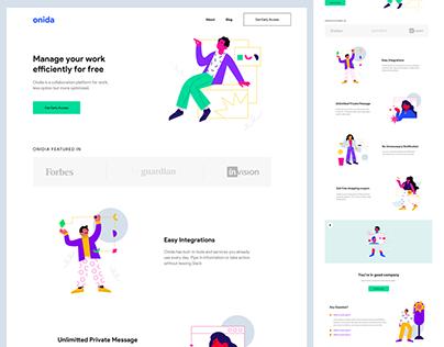 Onida - Landing Page Design